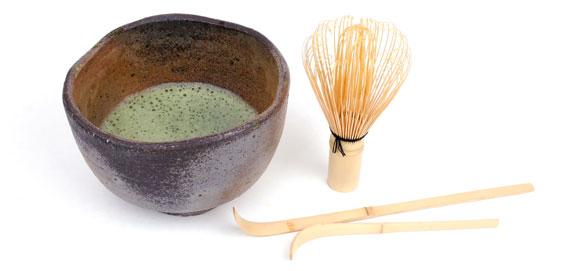 Zubehör für die Zubereitung von Matcha Tee