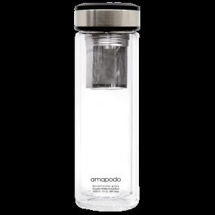 Teeflasche mit Filter und Deckel Anthrazit - 400ml