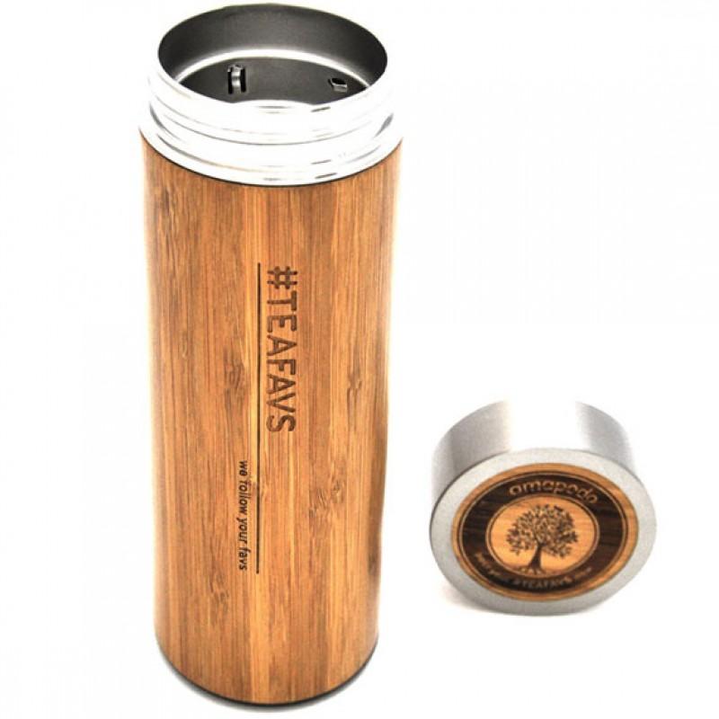 thermobecher aus bambus 500ml to go isolierkanne kaffeekanne. Black Bedroom Furniture Sets. Home Design Ideas