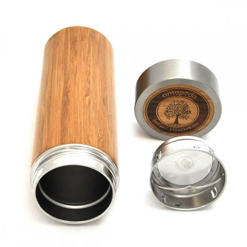 Thermobecher Aus Bambus 500ml To Go Isolierkanne Kaffeekanne