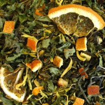 Weißer Tee, Blutorange, Minze
