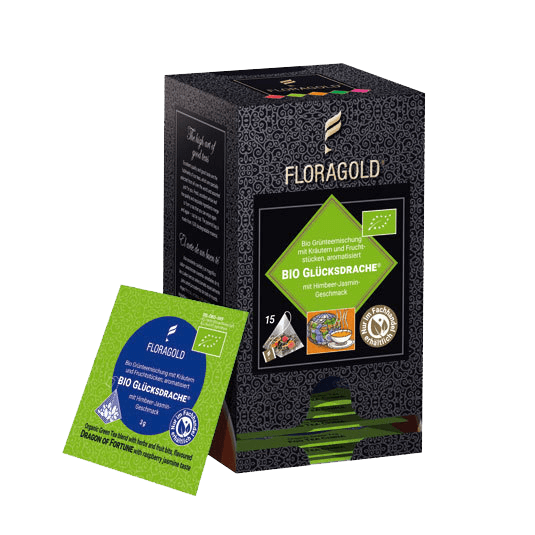 Bio Glücksdrache® im Pyramidenbeutel (Grüntee)