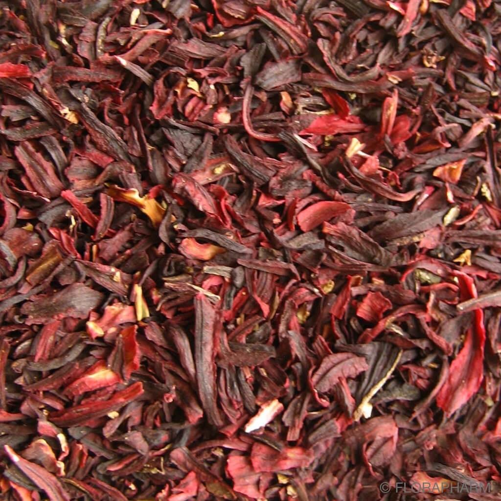 Hibiscusblüten geschnitten Hibiskusblüten