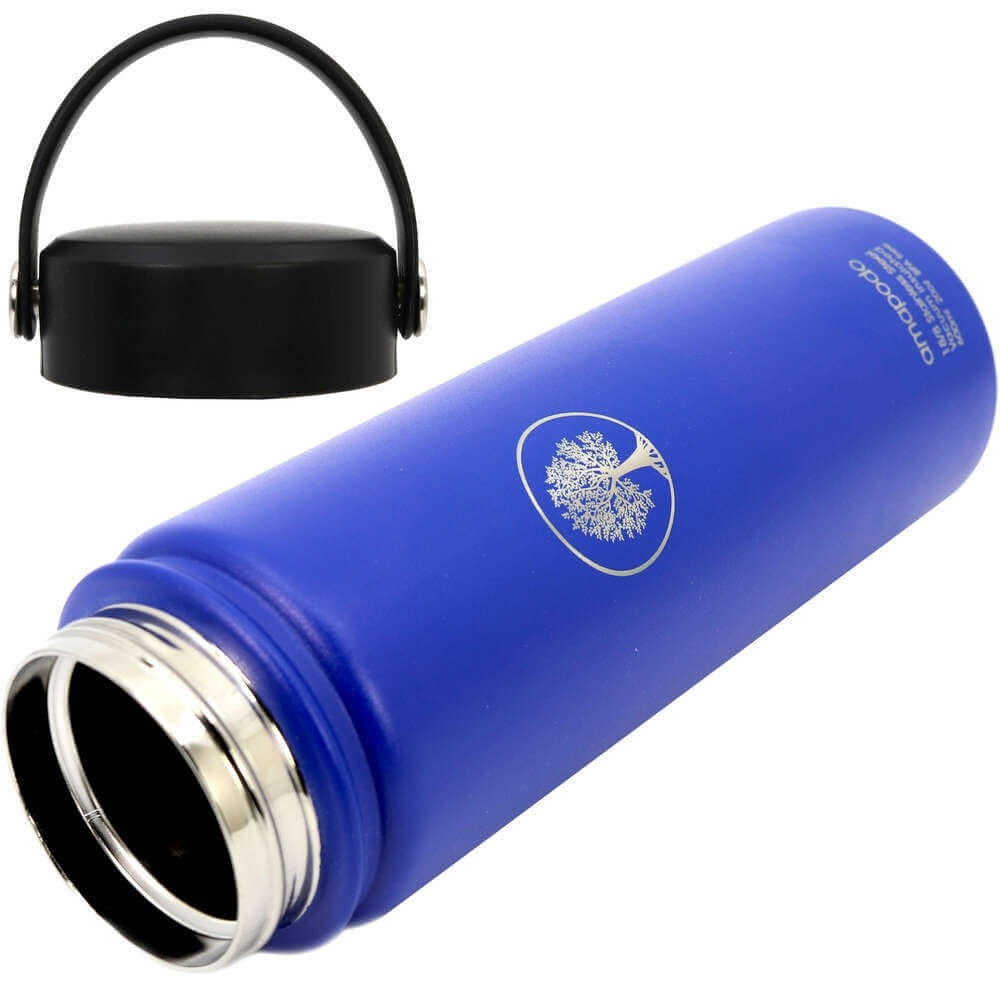 Teeflasche blau 600ml Edelstahl