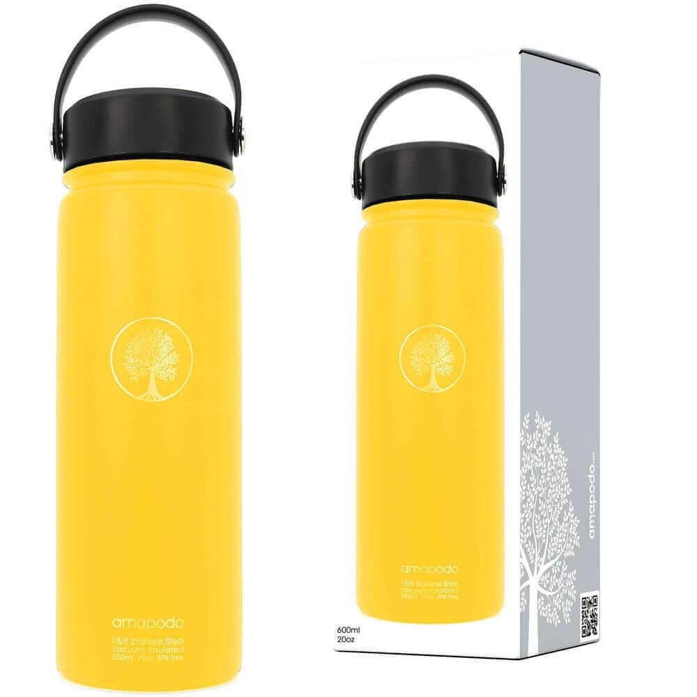 Trinkflasche gelb 600ml