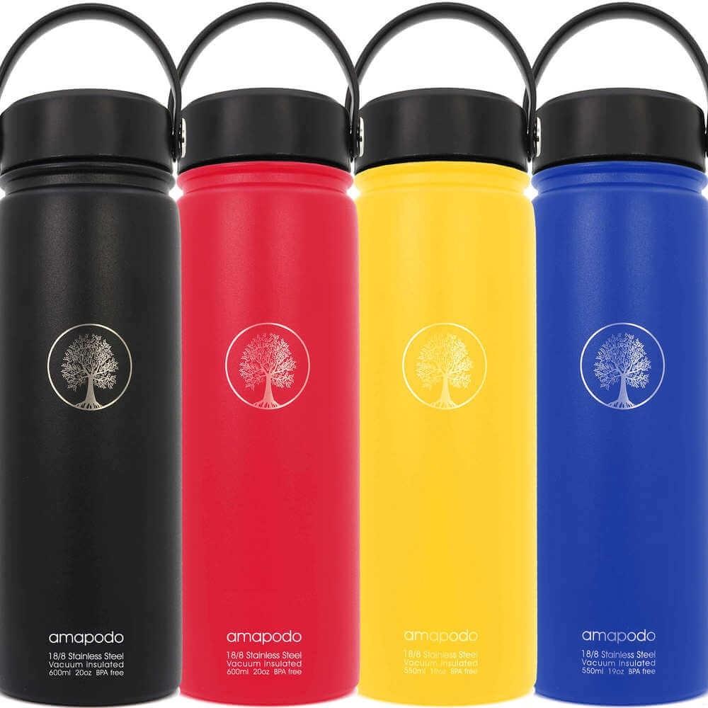 Wasserflasche farbig 600ml Edelstahl