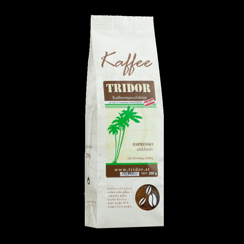 Kaffee Tridor Espresso exklusiv