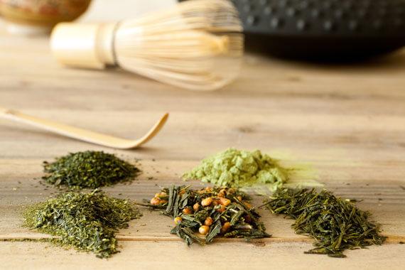 Verschiedene Teesorten aus Japan