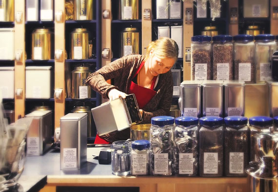 Filiale des House of Tea & Coffee in der Altstadt von Innsbruck