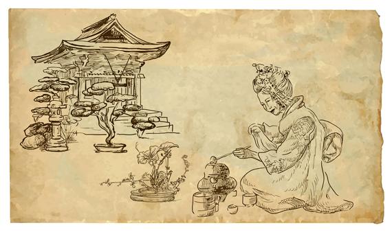Traditionelle japanische Teezeremonie